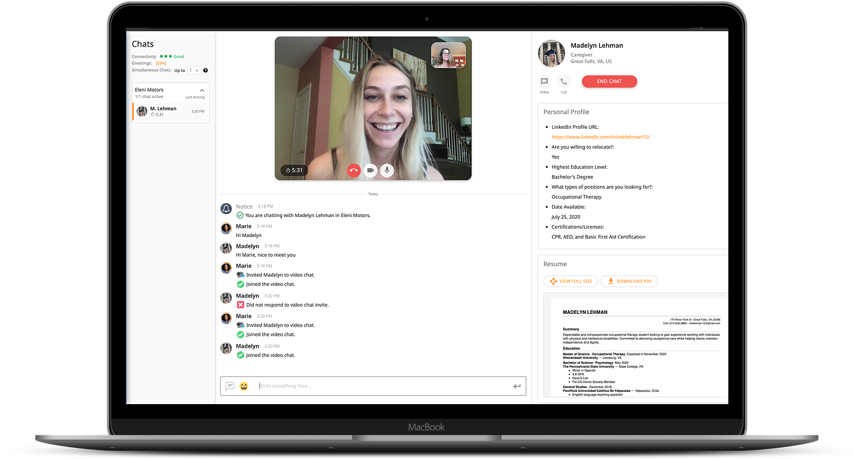 Video Chat - Maddy